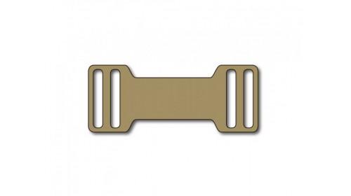 SO820G250 GOLD Slip-on plastic frame tag x 250